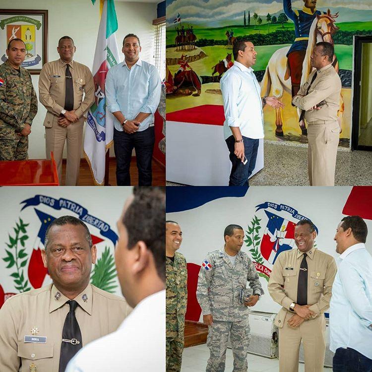 Alcalde recibe visita del nuevo Jefe del Comando Conjunto de la zona Este