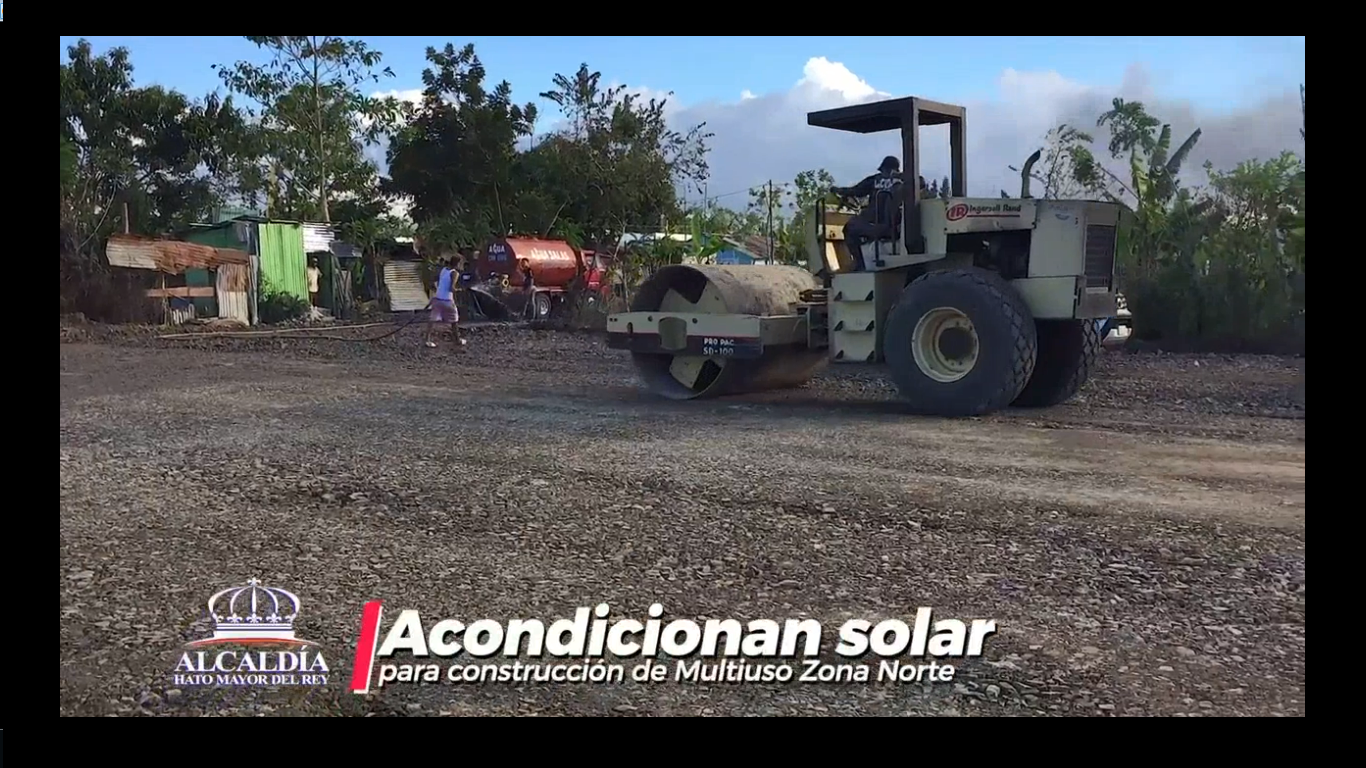 ACONDICIONAMIENTO DE SOLAR PARA CONSTRUCCIÓN DE CANCHA MULTIUSO